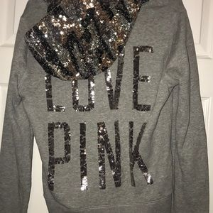 PINK Victoria's Secret Tops - Victoria's Secret Sparkly Zip Up Jacket